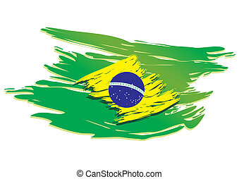 brasil, estilizado, bandera