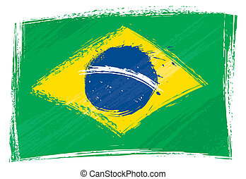 brasil, grunge, bandera