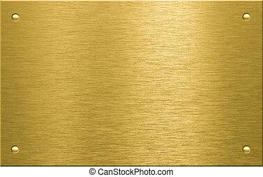 Brass o bronce de metal con cuatro remaches