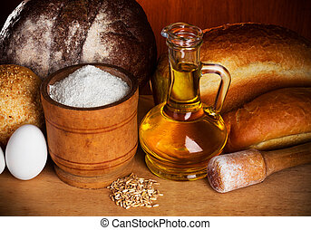 bread, hornada, bodegón