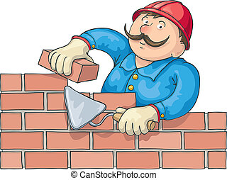 Bricklayer en el trabajo