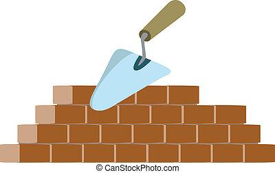 Bricklayer y vector de truchas