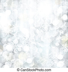 Brillando fondo de Navidad plateado con luces borrosas