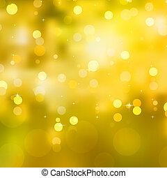 brillante, 10, eps, amarillo, fondo., navidad
