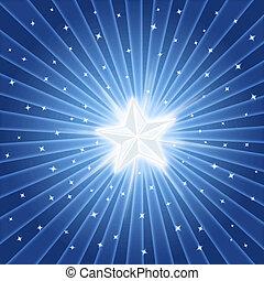 Brillante estrella brillante