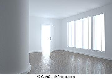 brillante, windows, habitación