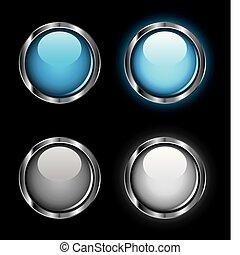Brillantes botones de telaraña
