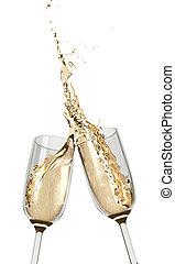 brindar, flautas champaña