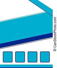 Brochure fondo azul