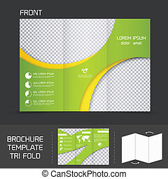 Brochure plantlate tri pliegue