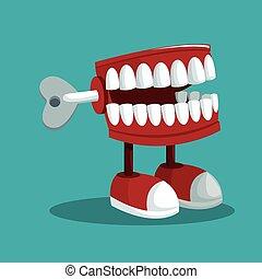 broma, fools, práctico, abril, dientes, día