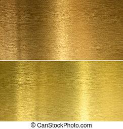 Bronce y texturas de bronce