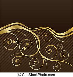 Brown y oro tornan el menú de café