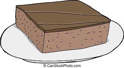 Brownie aislado en el plato