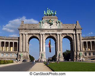 Bruselas marca el arco con la gente