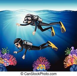 Buceando en el océano
