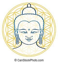 Buda y la flor de la vida