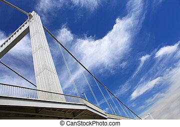 Budapest, puente y cielo