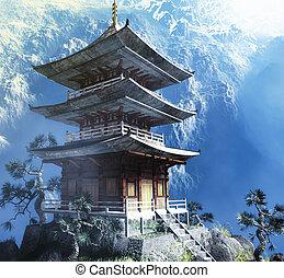 budista zen, templo