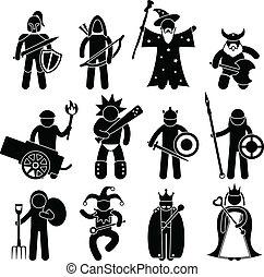 Buen carácter guerrero antiguo