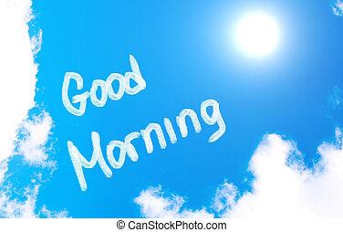 Buen concepto de la mañana