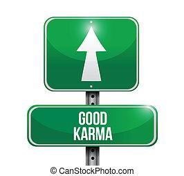 Buen diseño de ilustración de signos de karma