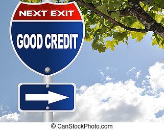 Buena señal de crédito