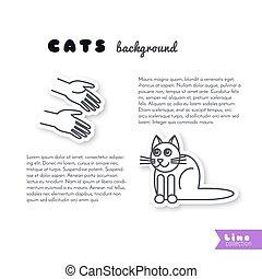 Buenas manos para el fondo del gato