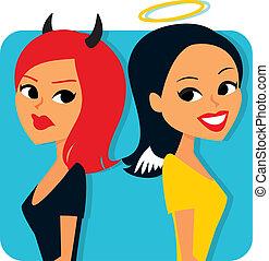 Buenas y malvadas chicas