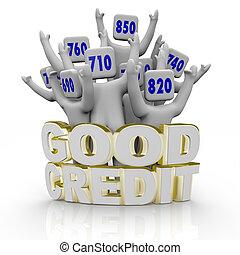 bueno, aplausos, gente, -, credito, cuentas
