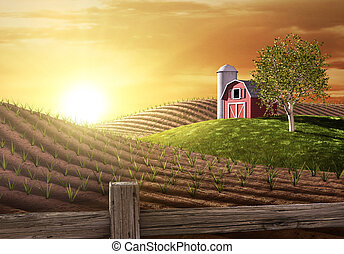 Buenos días en la granja