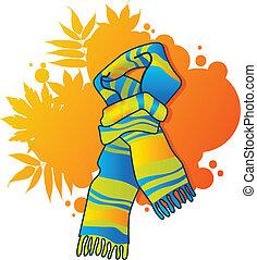bufanda azul, moderno