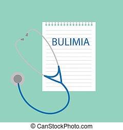Bulimia escrita en cuaderno