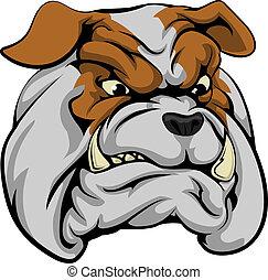 bulldog, carácter, mascota