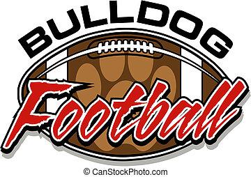 bulldog, fútbol, diseño