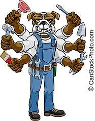 bulldog, factótum, multitáreas, tenencia, herramientas
