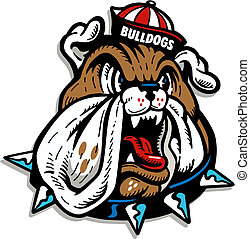Bulldog usando gorrita