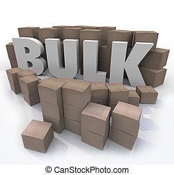 bulto, producto, comprar, palabra, muchos, volumen, cajas, cantidad