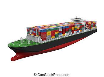 buquede carga, contenedor, aislado