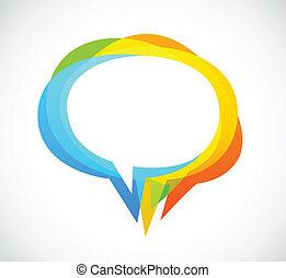 Burbuja de discursos, fondo abstracto colorido