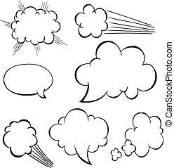 Burbuja de habla de dibujos animados