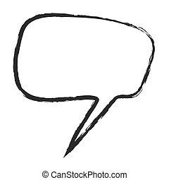 Burbuja de habla de dibujos animados, vector