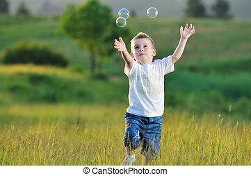 burbuja, niño