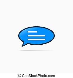 burbuja, señal, símbolo, comentario, mecanografía, charla, icono