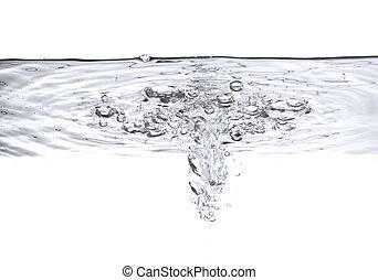 Burbujas de aire en el agua