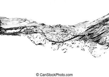 Burbujas de aire en el agua, negras y blancas