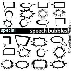 Burbujas de discursos especiales 1-2