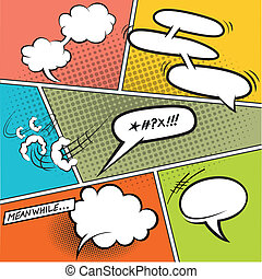 Burbujas de habla Retro