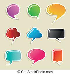Burbujas de medios sociales listas