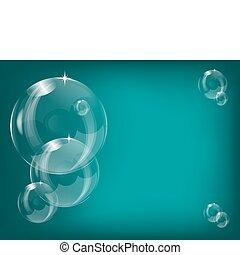 burbujas, jabón, ilustración, transparente, plano de fondo, vector